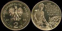 Pologne. 2 Zloty. 2008 (Pièce KM#Y.659 Neuf) Colonisation polonaise en Amérique