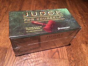 JUDGE FOR YOURSELF - THE GAME OF REAL LIFE COURTROOM DRAMAS, New sealed box