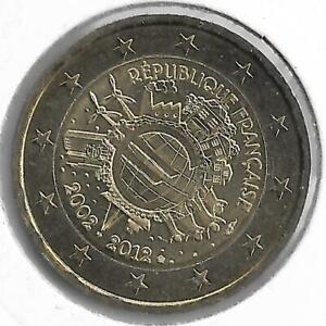 FRANCE 2 Euro Commémorative 10 Ans de l'Euro 2012 UNC