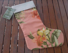 Tommy Bahama Christmas Stocking Siesta Key Cantaloupe Pink Beach Tropical House