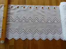 Kurzgardine - Panneau - Stickerei - weiß - 30cm -