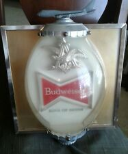 Rare Vintage 60s Budweiser Beer Lighted Sign