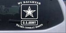 My Daughter Wears Combat Boots Car or Truck Window Laptop Decal White 6X5.6