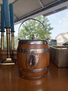 vintage ice bucket with lid