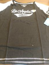 Los Angeles Lakers Woman's Tee Shirt Brand New Color Black/White
