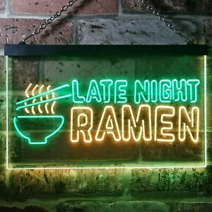Late Night Ramen Japanese Food Dual Color LED Neon Sign st6-i3305