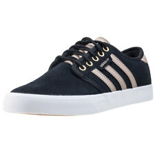 adidas Seeley Mens Black Khaki Suede & Synthetic Trainers - 7 UK