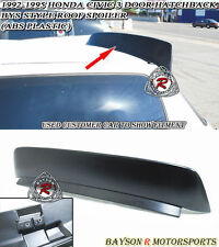 BYS-Style Rear Roof Spoiler Wing (ABS) Fits 92-95 Civic 3dr