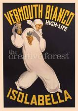 VERMOUTH BIANCO ISOLABELLA Vintage Advertising Poster CANVAS ART PRINT 24x32 in.