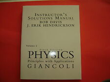 Physics: Principles with Applications 2 : Instructor's Solutions Manual by...