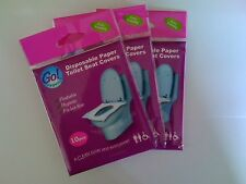 DISPOSABLE PAPER TOILET SEAT COVERS - 3 PACK(30PCS) BRILLIANT NEW HYGIENIC ITEM