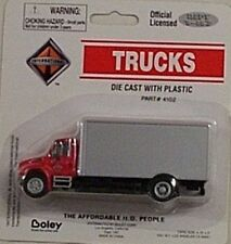 Boley HO 1/87 Die Cast International 4300 Red & Silver Drywall  Delivery Truck