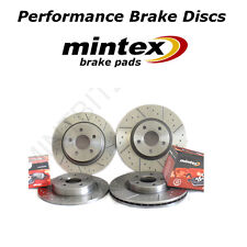 Mitsubishi Lancer Evo 6 7 8 9 Front Rear Dimpled Grooved Brake Discs Mintex Pads