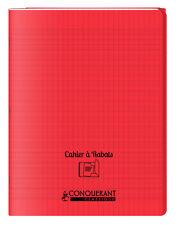 Cahier à rabats 17x22 - 96 pages - Séyès - Polypro rouge
