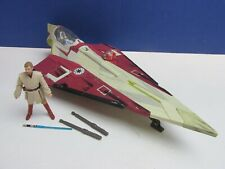 star wars OBI WAN KENOBI JEDI STARFIGHTER SHIP attack clones HASBRO 2001 vehicle