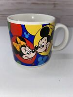 DISNEY Ceramic Coffee Mug Mickey Minnie Goofy Donald Pluto Made in Korea-vintage