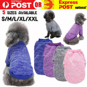 Cute Pet Dog Sweater Jumper Clothes Puppy Cat Warm Knitwear Knitted Coat Winter