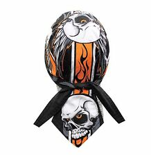 Grey Rider Bandanna Biker Do Du Doo Rag Head wrap Skull cap Hat Capsmith