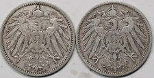 1901-A, 1902-J GERMANY 1 MARK, LOT/2 - HIGH GRADE CIRC EXAMPLE!