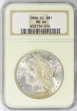 1884-CC Morgan Silver Dollar - NGC  MS-64 -  Certified Mint State 64