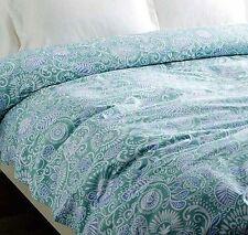 Sferra 2180 Ressa KING Duvet Comforter Cover Aqua/Cornflower Made in Italy NWT