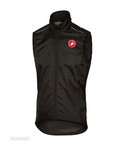 Castelli SQUADRA Vest Lightweight Windproof Cycling Wind/Rain Vest : BLACK