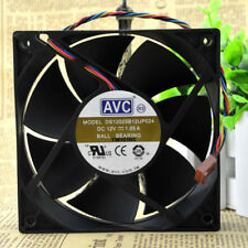 2 PCS AVC DS12025B12UP024 Cooling Fan DC 12V 1.05A 120mm x 120mm x 25mm 4 WIRE
