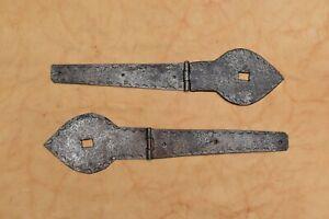 handmade iron hinges head burn rusty hardware vintage iron door gate hinges 2 pc