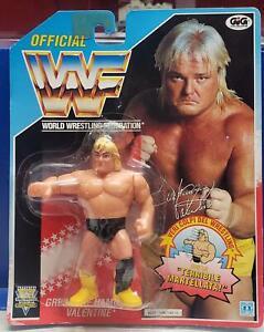 Greg The Hammer Valentine WWF Hasbro MOC Vintage SPANISH Card 1992 Sealed