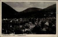 Friedrichroda Thüringen DDR Ansichtskarte Gesamtansicht über die Stadt Wald
