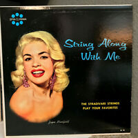 """String Along With Me - JAYNE MANSFIELD  - 12"""" Vinyl Record LP - VG+ (Cheesecake)"""