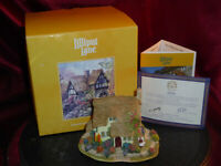 LILLIPUT LANE Devon Leigh British Collection L2091 Model Cottage Boxed + deeds