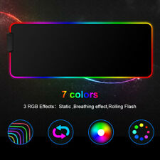 More details for rgb gaming mouse mat pad large extended led mousepad for desk pc laptop keyboard