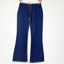 Vintage Paris Blues Lace-Up Wide Bottom Jeans Size 5