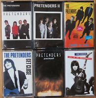 6x THE PRETENDERS CASSETTE TAPES - ALL EXCELLENT COND. - CHRISSIE HYNDE NEW WAVE