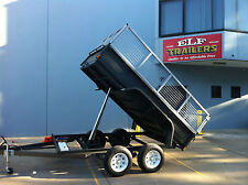 TANDEM TIPPER 10X6FT AUTO HYDRAULIC DEEP SIDES WITH CAGE AUSTRALIAN MADE
