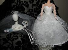 BARBIE WEDDING DAY VINTAGE REPRO REPRODUCTION GOWN DRESS VEIL SHOES FOR DOLL