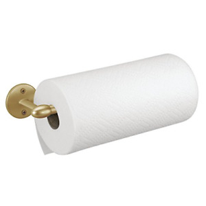 iDesign Orbinni Wall-Mounted Kitchen Paper Towel Roll Holder, Metal, Gold