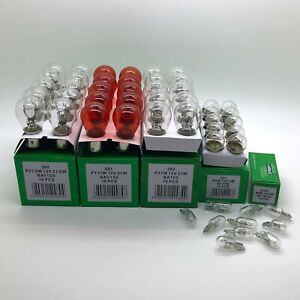 50 x Assorted Quality 12 Volt Car Bulbs Set - 10 of Each 380 382 581 207 501