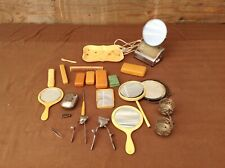Lot Of Vintage Vanity Items, Mirrors, Clippers, Soap Boxes etc.