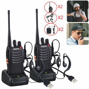 2 Pack Baofeng BF-888S Walkie Talkie UHF Two-Way Ham Radio 2800 mAh UK