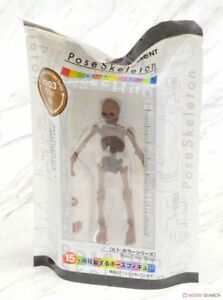 Re-Ment Miniature Pose Skeleton Human 03 rement Human (08) Wood RARE
