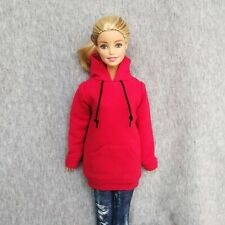"""Handmade doll clothes red hoodie for 11.5""""  barbie dolls"""