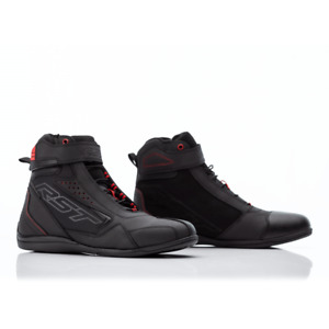 RST Frontier CE Ladies Motorcycle Motorbike Short Summer Sport Boots - Black Red