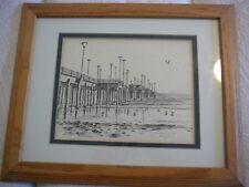 Maurice Gregoire Signed Huntington Beach Pier /100