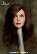 1/6 CUSTOM REHAIR REPAINT Angelina Jolie hot toys figure head phicen female DX