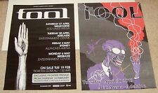 RARE 2 POSTER LOT Tool ADELAIDE AUSTRALIA 2013 tour Signed by all four members