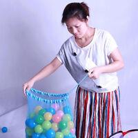 Kids Ball Pit Balls Storage Net Bag Toys Organizer for 200 Balls Multi-use