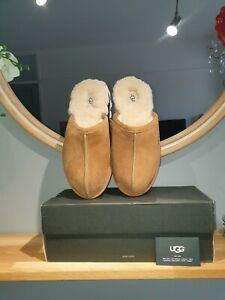 GORGEOUS MENS UGG SCUFF IN CHESTNUT SIZE UK 9. BRAND NEW IN BOX!