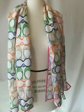 COACH PASTEL C SCARF 2 IN LISTING
